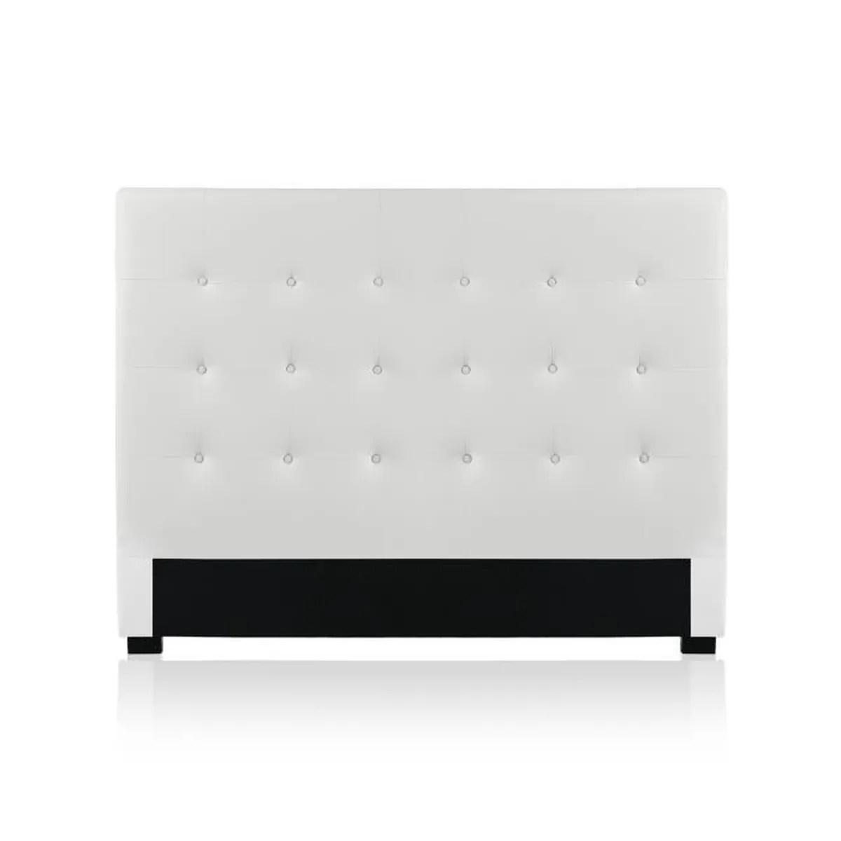 tete de lit capitonnee premium 160cm blanc