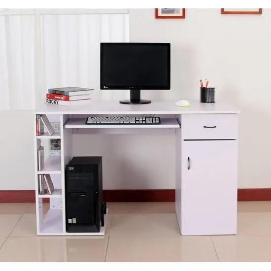 bureau pour ordinateur table meuble pc informatique multimedia mauve clair 12