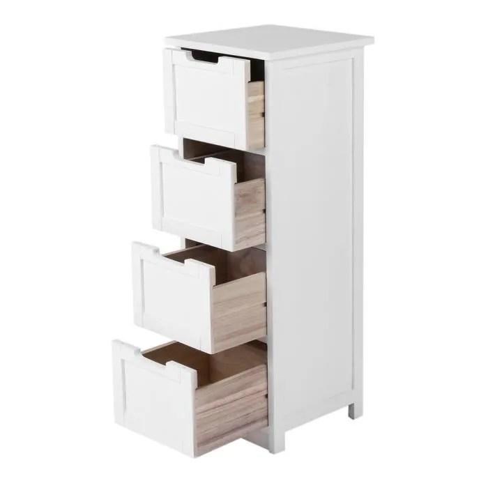 meuble de rangement 4 tiroirs 30x30x83