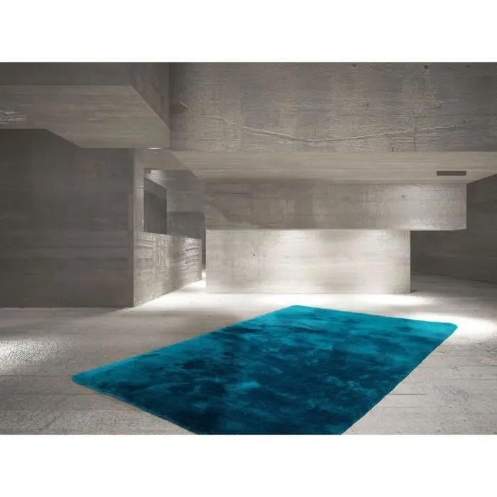 deladeco tapis bleu petrole en