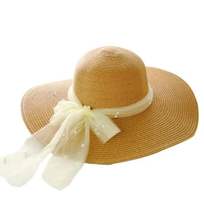 طيب الرائحة مجهود حليب chapeau en paille pour femme