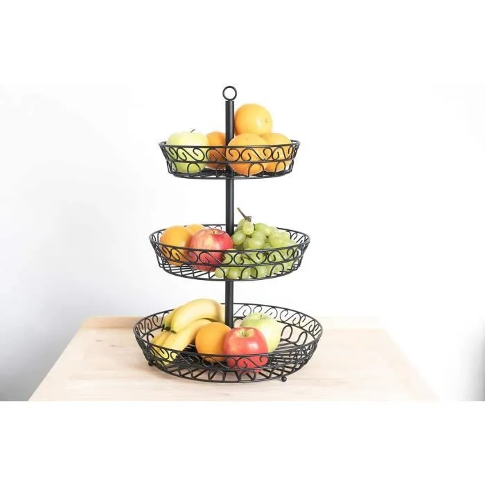 corbeille a fruits 3 etages panier a
