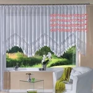 rideaux blanc dentelle