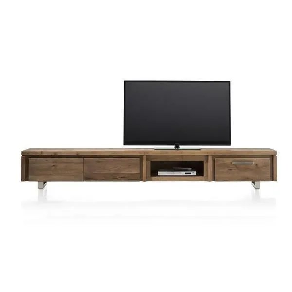 meuble tv 240 cm chene massif more iii