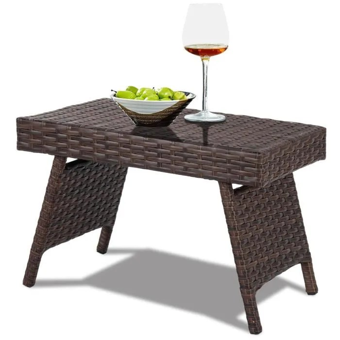 costway table basse pliable de jardin