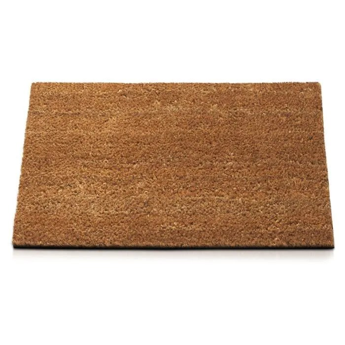 tapis d entree fibre de coco nature 80x100 cm