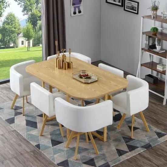 table et chaises oslo xl chene et