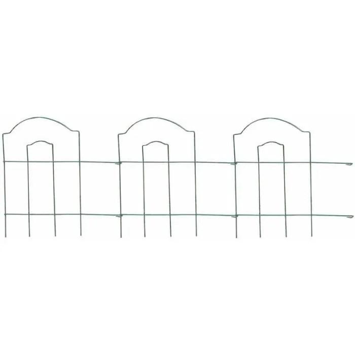 bordure de jardin en metal lawn 3m vert