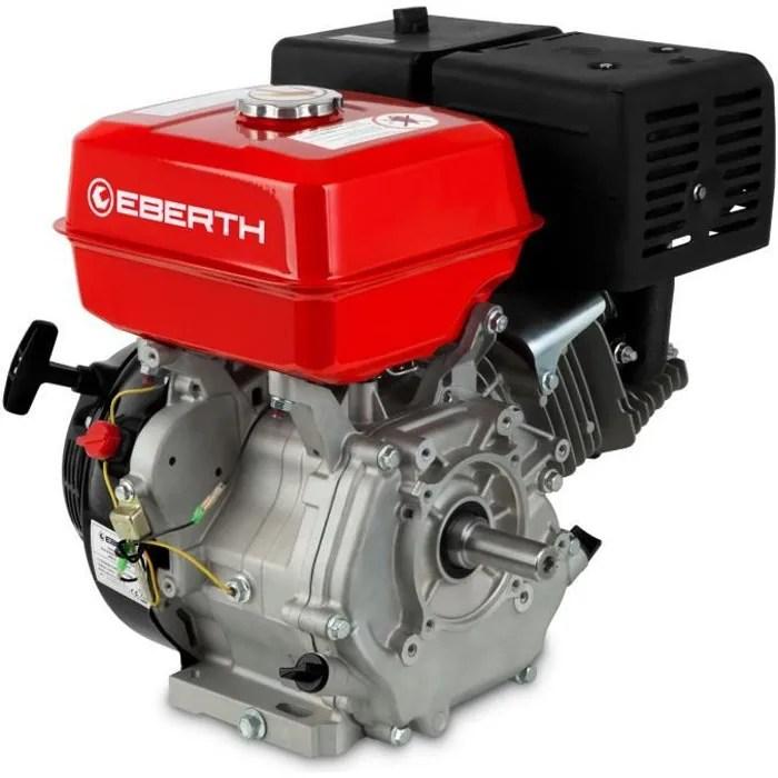 Eberth 13 Cv Moteur A Essence Thermique 25 Mm Arbre Alarme Manque D Huile 4 Temps 1 Cylindre Refroidissement A Air Cdiscount Auto