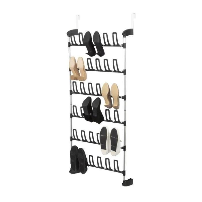 rangement chaussures de porte classique en metal gris l 68 cm