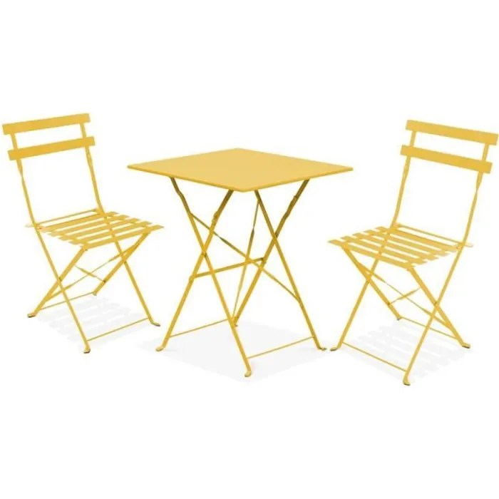 set table et 2 chaises bistrot pliant
