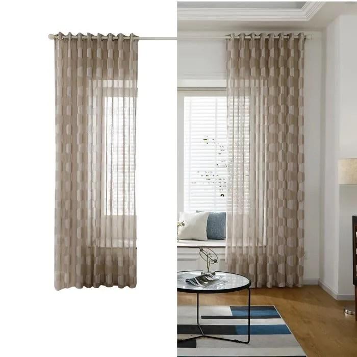 rideau de fenetre en voile transparent avec tringl