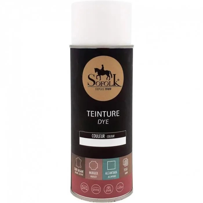 teinture cuir noir aerosol 400ml