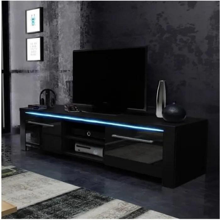 meuble tv design manhattan 140 cm a 2 portes 2 n