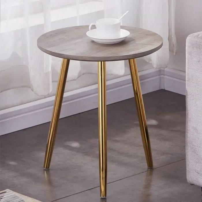 goldfan petite table basse salon retro ronde bout de canape avec pieds metal table d appoint en bois pour chambre design moderne o