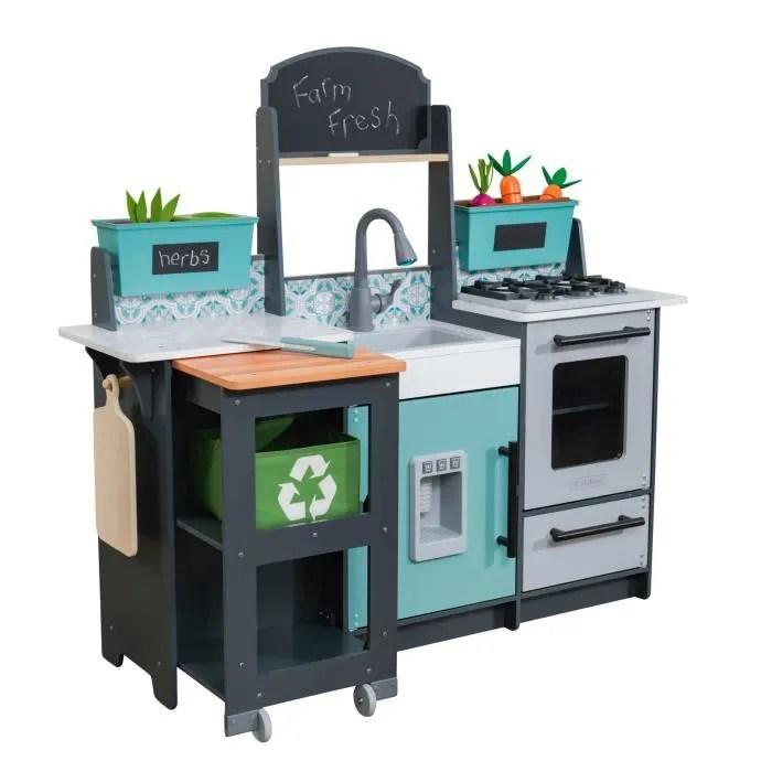 kidkraft cuisine pour enfant en bois garden gourmet 53442 accessoires inclus son et lumiere assemblage ezkraft