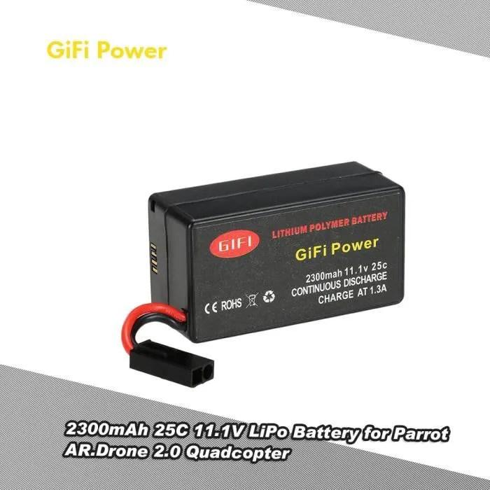 Gifi Puissance 2300mah 11 1v 25c Lipo Batterie Pour Parrot Ar Drone 2 0 Quadcopter Cdiscount Jeux Jouets