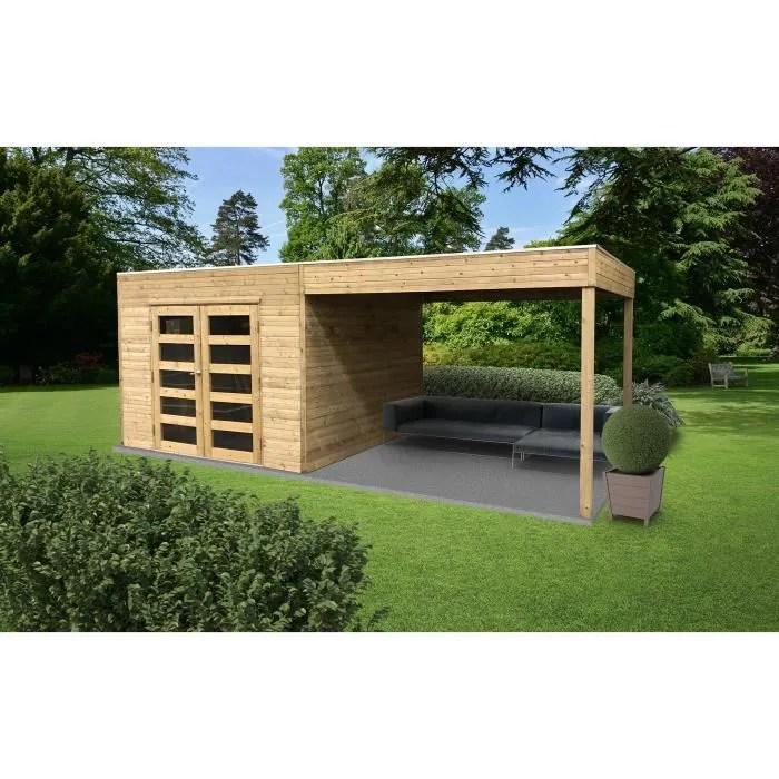abri de jardin 19 mm tarento avec terrasse later