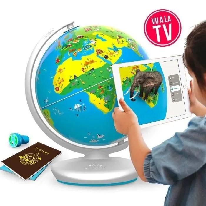 globe interactif jeux educatif orboot en realite augmentee multi jeux quizz defis aventures