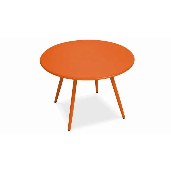 table basse de jardin ronde en metal diametre 50