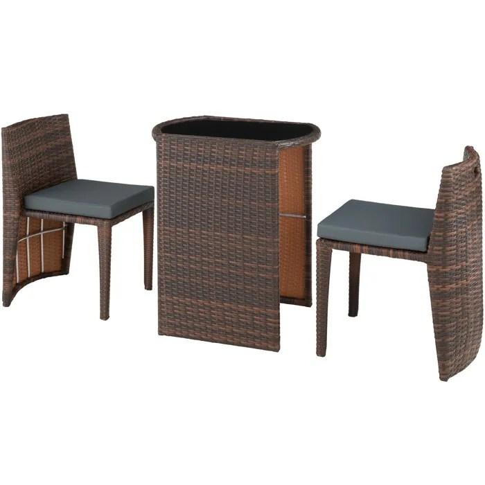 salon de jardin chaise encastrable