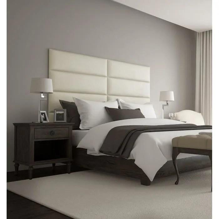 tete de lit capitonnee vant beige 4 panneaux muraux suede de 91x26 cm fabriquer tete de lit ideal pour lits 140 cm 160 cm