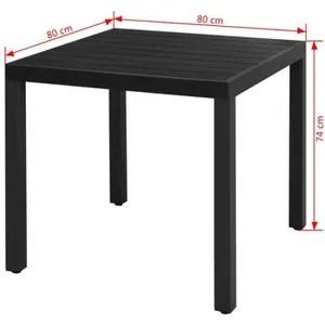 table de jardin largeur 80 cm