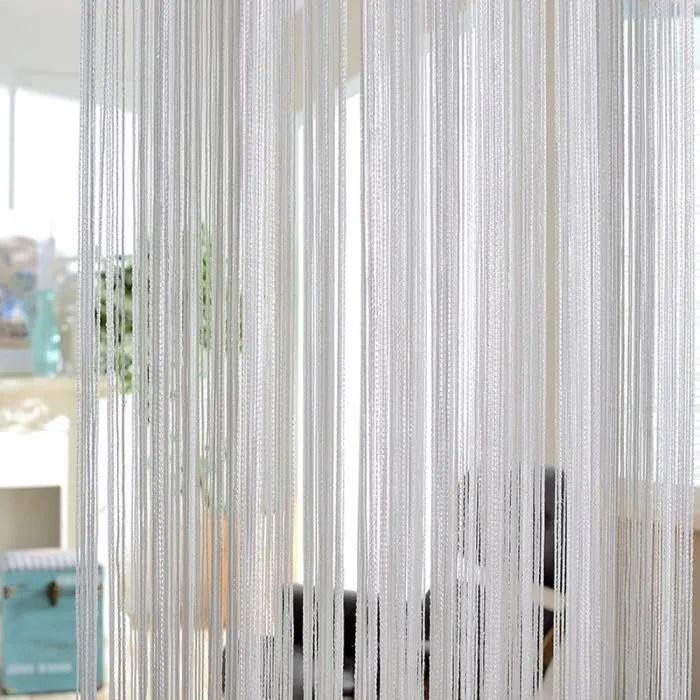 rideau a fils creme moustiquaire rideaux au design