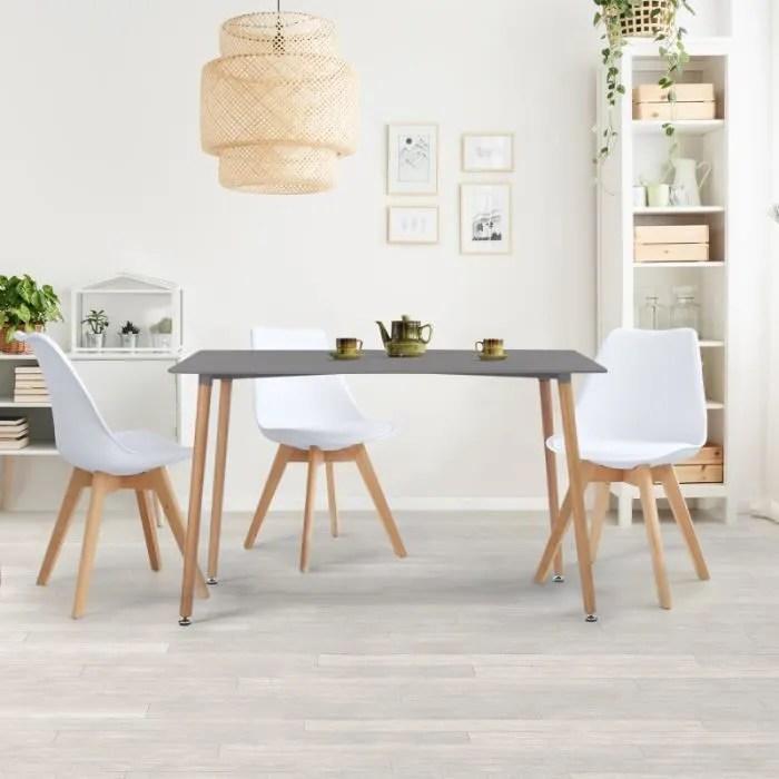 table a manger scandinave sara 120 cm grise anthracite