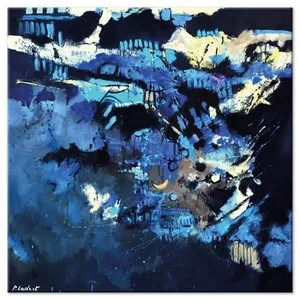 tableau abstrait bleu