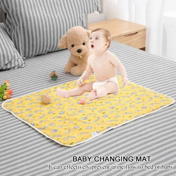 coton tapis a langer pour voyage