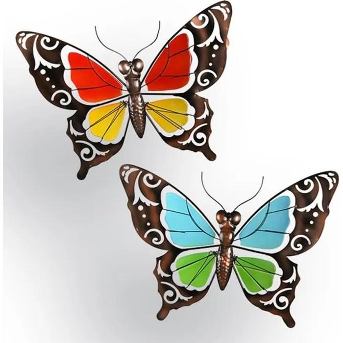 decoration murale papillon metal