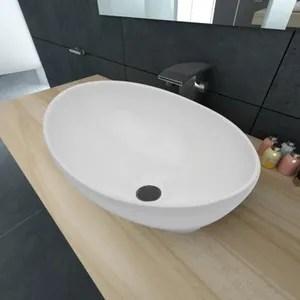 Vasque A Poser Ovale Blanche Achat Vente Pas Cher