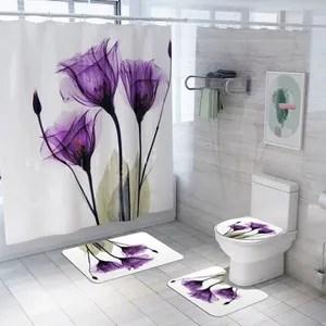 tapis salle de bain fleur de lotus