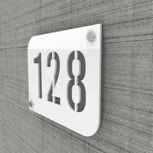 numero de maison gris anthracite
