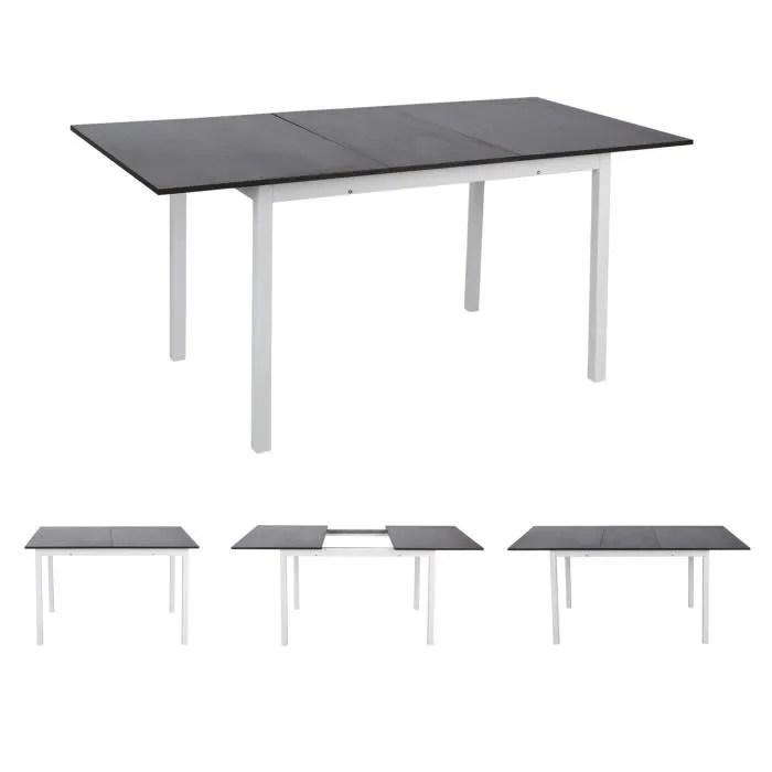 furnish1 grande table de salle a manger a extensible rectangulaire 120 160 80 75cm table a rallonge de cuisine en chene noir