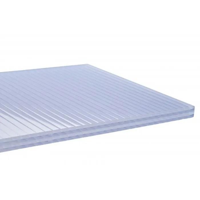 plaque polycarbonate alveolaire 32mm l 3 m l 98 cm e 32 mm opaline