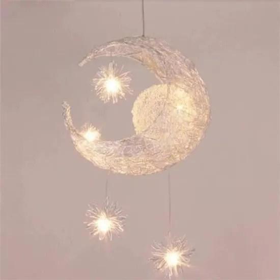 uni suspension decorative lune et etoiles lustre l