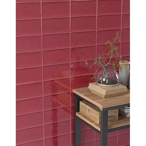 Carrelage Mural Faience Etnia Marsala Faience Martelee Rouge Bordeaux Revetement Mural Petit Format Vendu Par Boite No Achat Vente Carrelage Parement Etnia Marsala Faience Cdiscount
