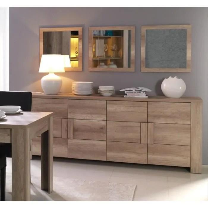 buffet bahut enfilade moyen modele ferrara 4 portes meuble design et tendance pour votre salon ou salle a manger
