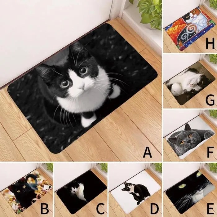 kawaii tapis de sol animal chat imprime