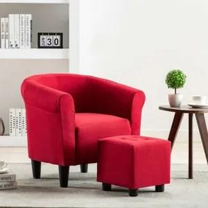 fauteuil rouge cdiscount maison