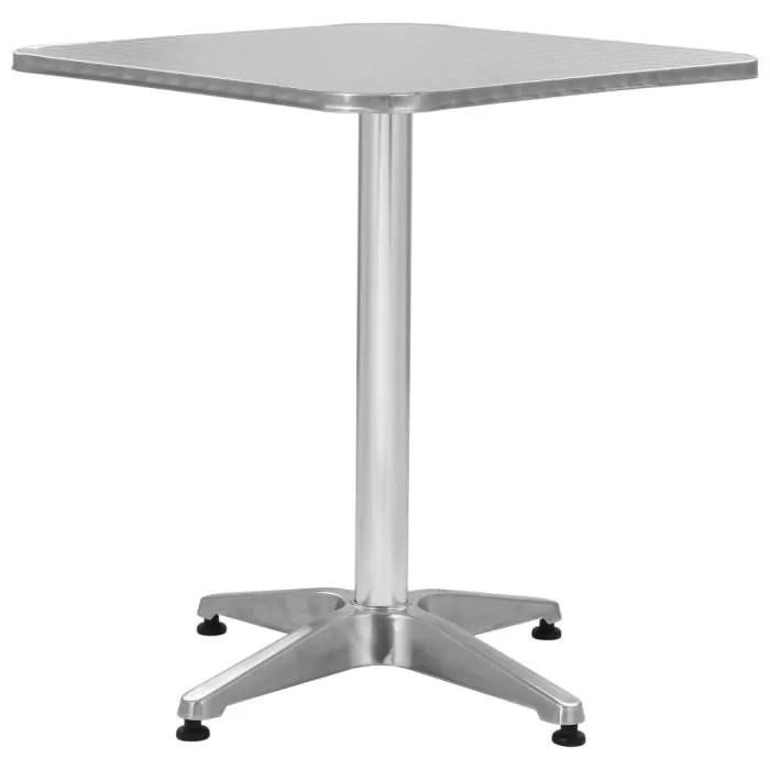 table bistrot aluminium