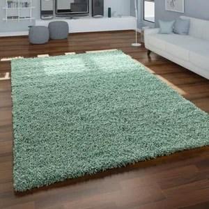 tapis rond vert shaggy