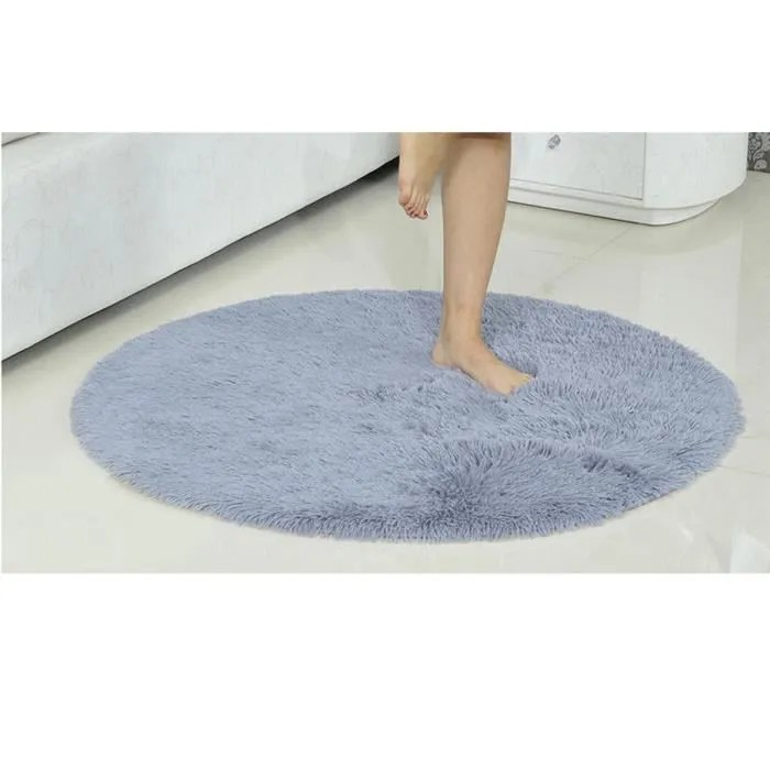 120cm rond tapis absorbant antiderapant peluche yo