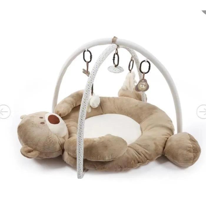 tapis d eveil ourson coussin de jeu avec arche
