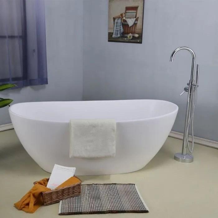 baignoire ilot 160 cm en solid surface enola bla