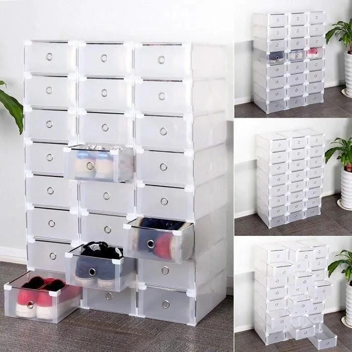24 cubes tour de rangement a chaussures modulable diy meuble penderie etagere pour la sdb garage chambre salon