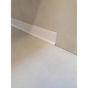1 5m pvc bavette de plinthe 18mm blanc
