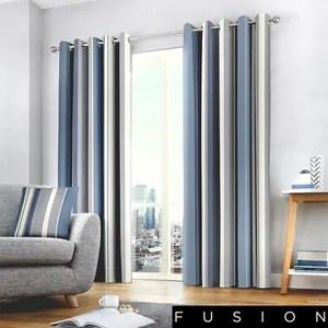 double rideaux bleu
